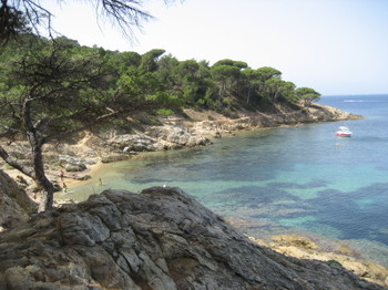 A Protected Beach on the way to Cap Lardier in Ramatuelle