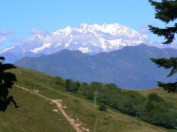 A View of Monte Rosa from Mount Mottarone