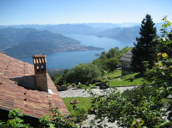 A View of Lago di Maggiore from Mount Mottarone