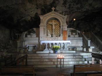The Altar in La Grotte Sainte Marie Madeleine