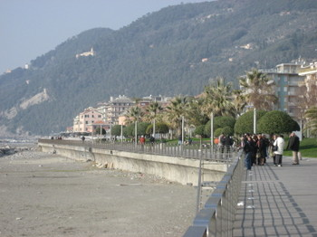 Seaside Promenade in Chiavari, Italy