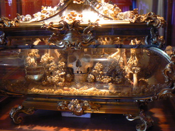 This may or may not be the skull of Saint Catherine