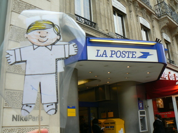 The Post Office was Flat Stanley's preferred mode of international travel