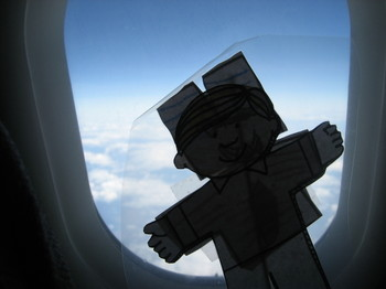 Flat Stanley flew back to California after experiencing April in Paris