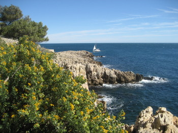 Hiking along Cap d'Antibes