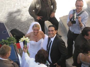 The new bride and groom, Julie & Rico Sandonato