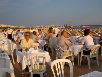Dinner in Cannes at Plage Gray Albion