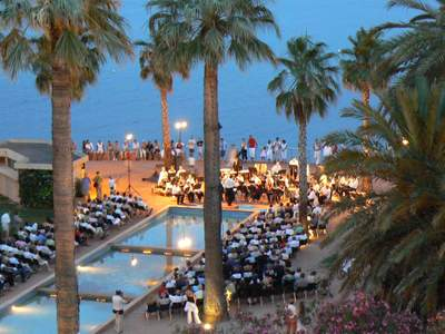 The Orchestre d'Harmonie d'Antibes in Square Albert 1er