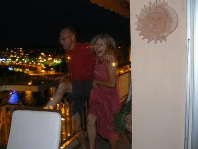John Doyle & Monique Widemann doing the Cancan !