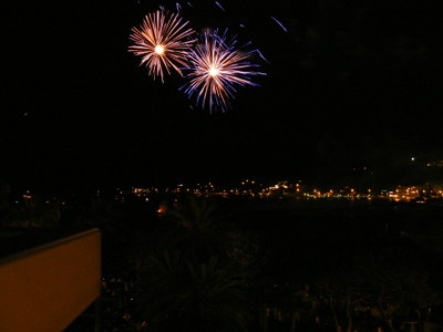 Fireworks Show from our Apartment Terrace
