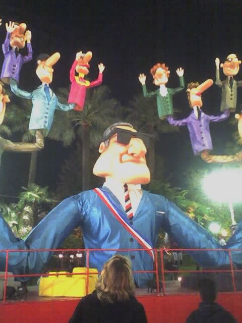 The Mayor of Nice, Jacques Peyrat, on a Parade Float in Nice