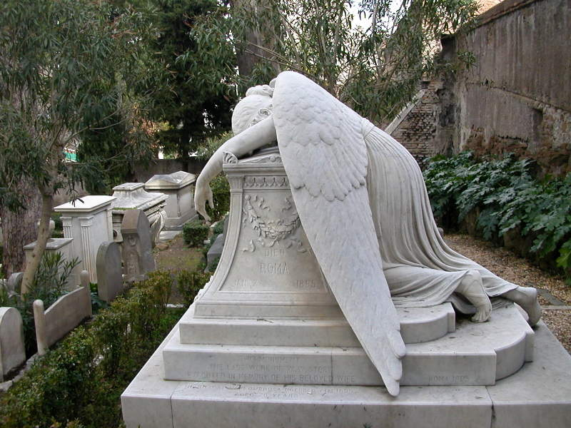 The Grave of Emelyn Story in the Protestant Cemetery in Rome