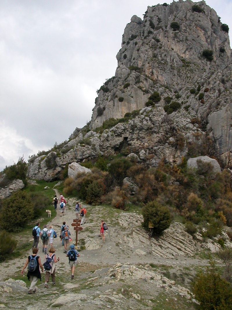 Col St-Michel toward Rocca-Sparvièra