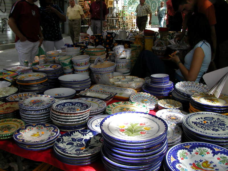 Market Wares at El Rastro in Madrid