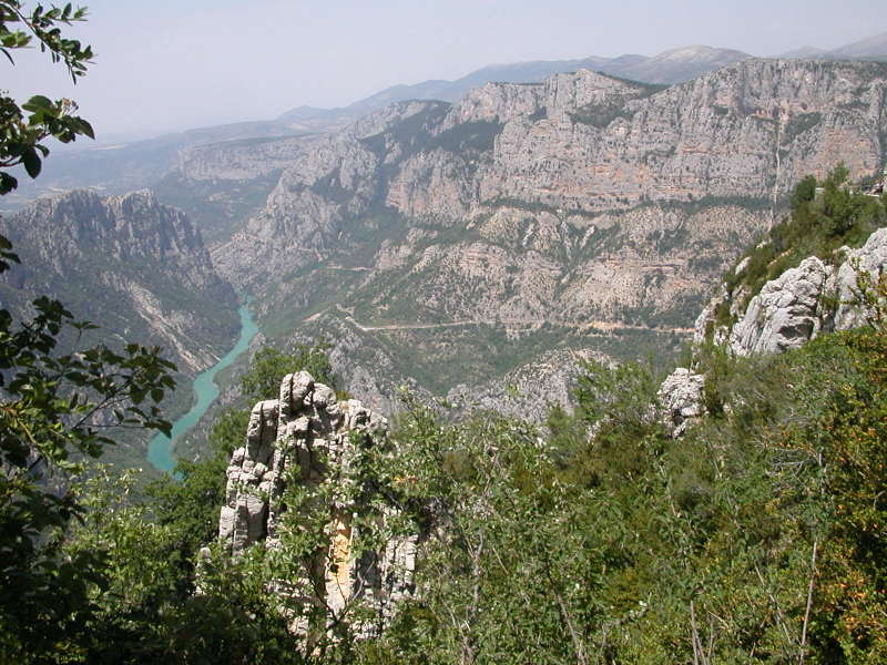 A View into the Gorge du Verdon from Balcons de Mescla