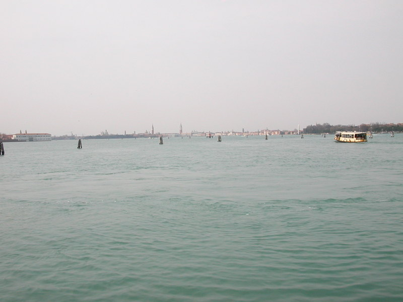 A Vaporetto in the Venetian Lagoon between Lido and Venice