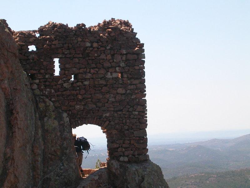 Ruins on the way toward la Grotte de la Sainte-Baume in the Estérel