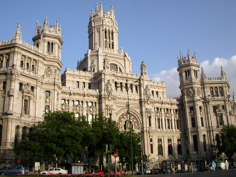 The Palacio de Comunicacionas - the Main Post Office in Madrid