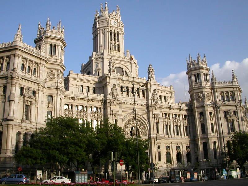 The Palacio de Comunicacionas - the Main Post Office in Madrid