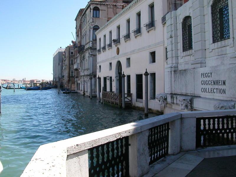The Peggy Guggenheim Collection in the Palazzo Venier dei Leoni on Venice's Grand Canal