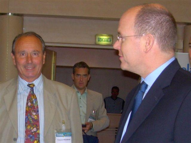 François Widemann and Prince Albert II [Photo by Monique Widemann]
