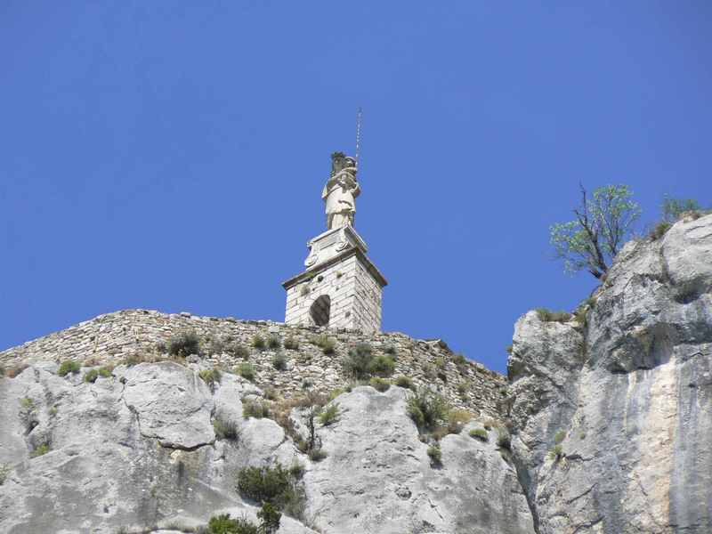 Chapelle Notre Dame du Roc on a 180m perch above Castellane