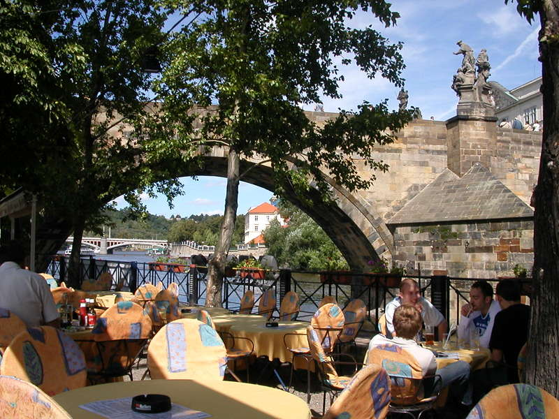 Lunch under the Charles Bridge