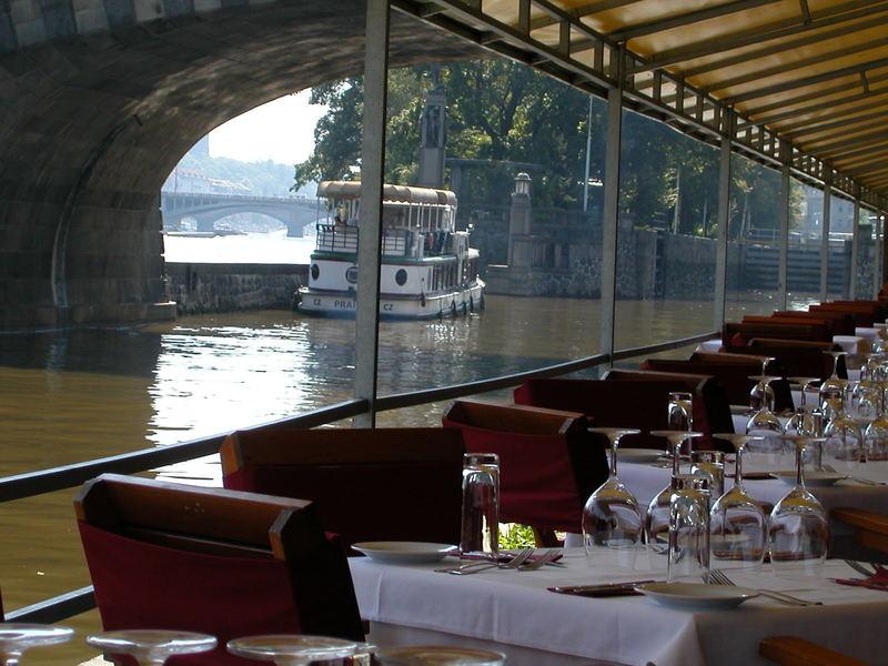 Restaurant <<C'est La Vie>> on Kampa Island in Prague