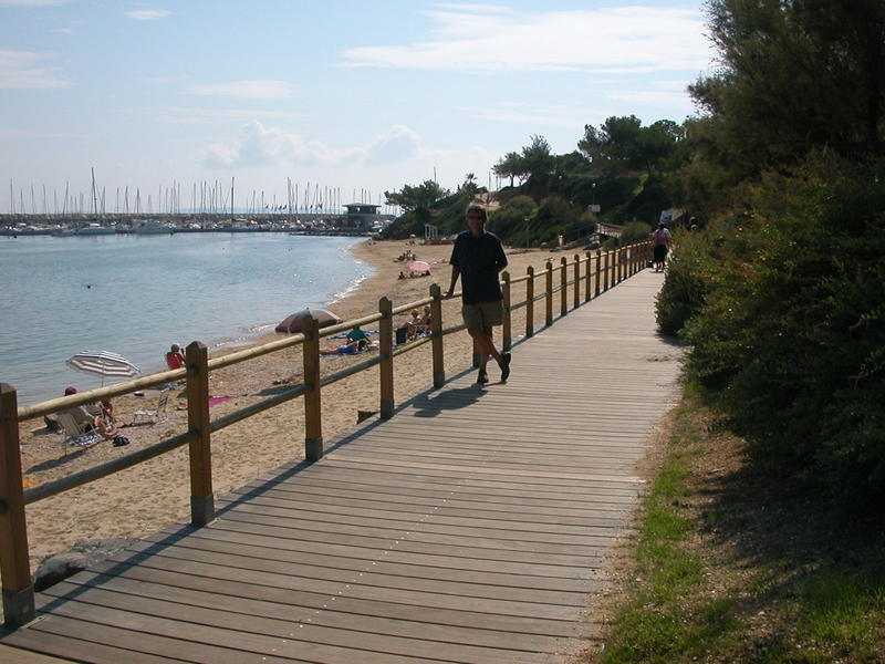 Boardwalk in Le Lavandou