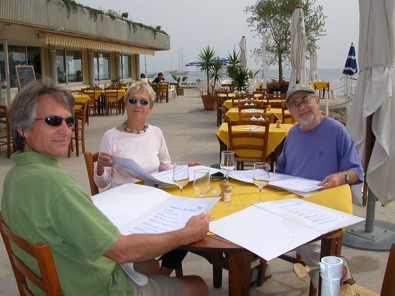 Dave, Jutta, & Hank/Heinz at Plage Royal
