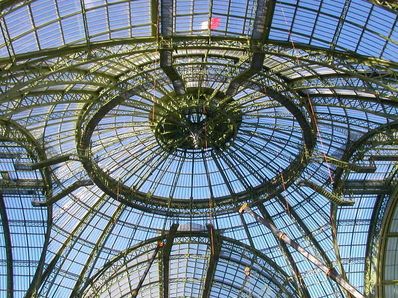 The Glass Dome of Le Grand Palais in Paris