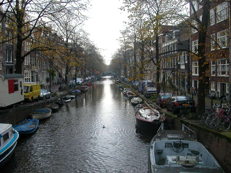 One of the many picturesque canals in Amsterdam