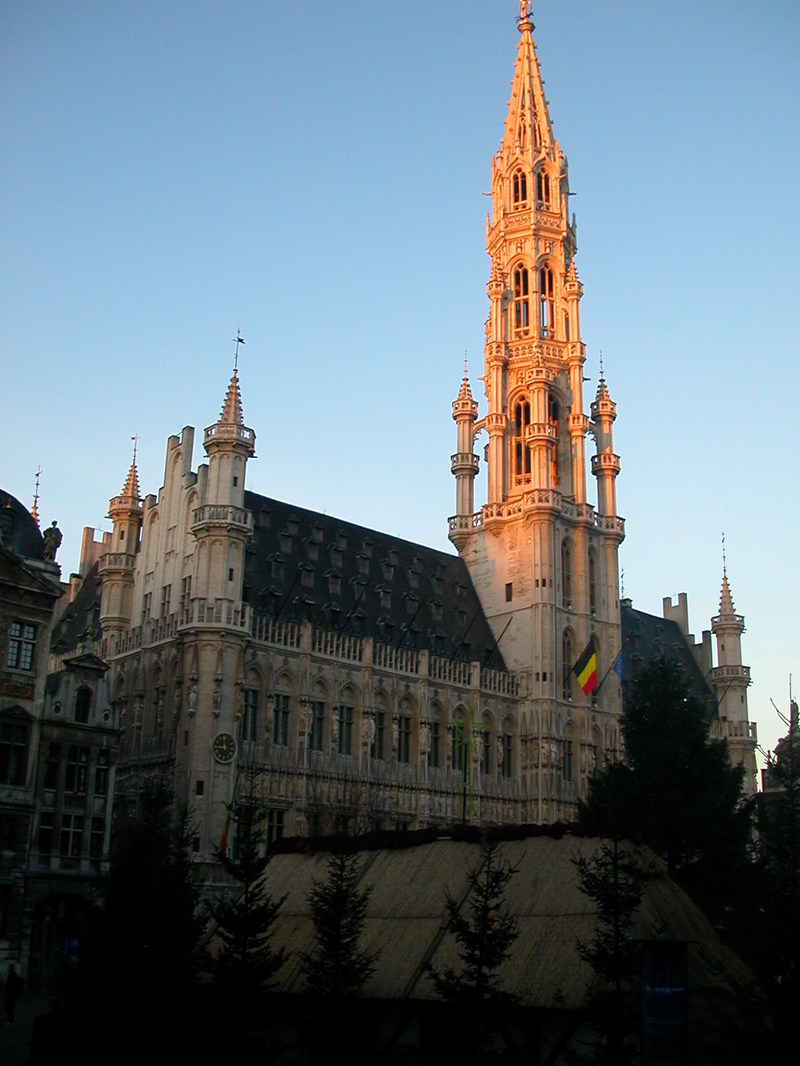 The Gothic Hôtel de Ville at Grand-Place in Brussels