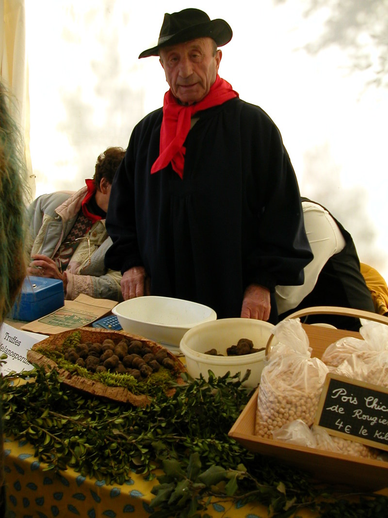 A Truffle Vendor at Le Marché de Truffes in Grasse