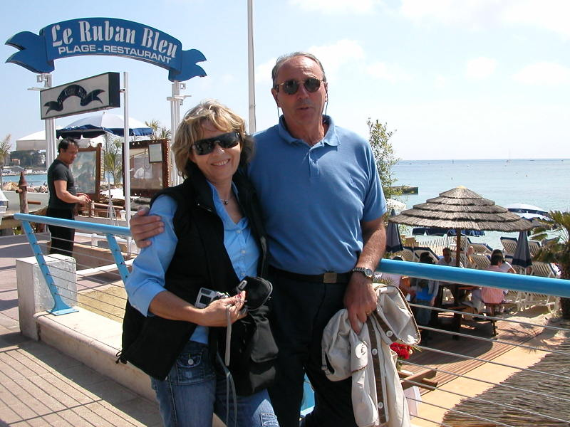 Monique & François Widemann in Juan-les-Pins