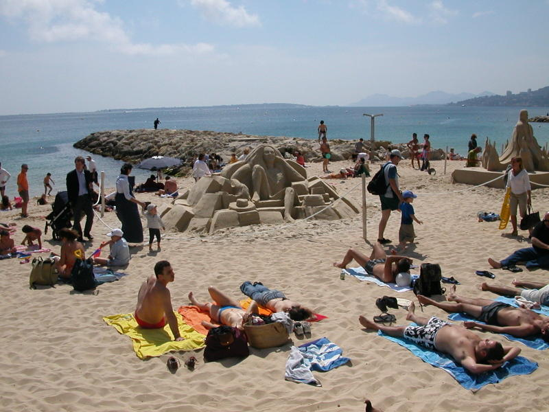 Sand Art in Juan-les-Pins