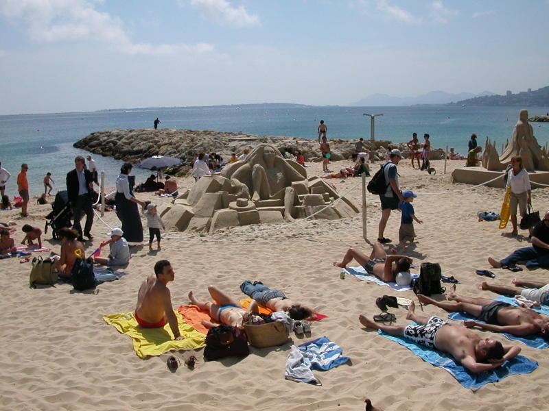 Sand Art in Juan-les-Pins